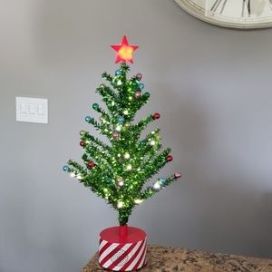 Other - Rotating Musical Xmas Tinsel Tree